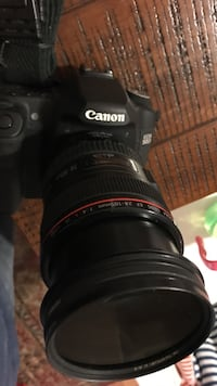 used black canon eos 50 d camera with bag and canon long