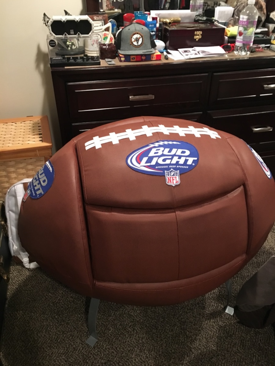 Bud light nfl super bowl chair and footrest cooler in