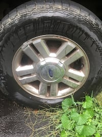 used '08 f150 rims and cooper adventurer a/t's 90% tread