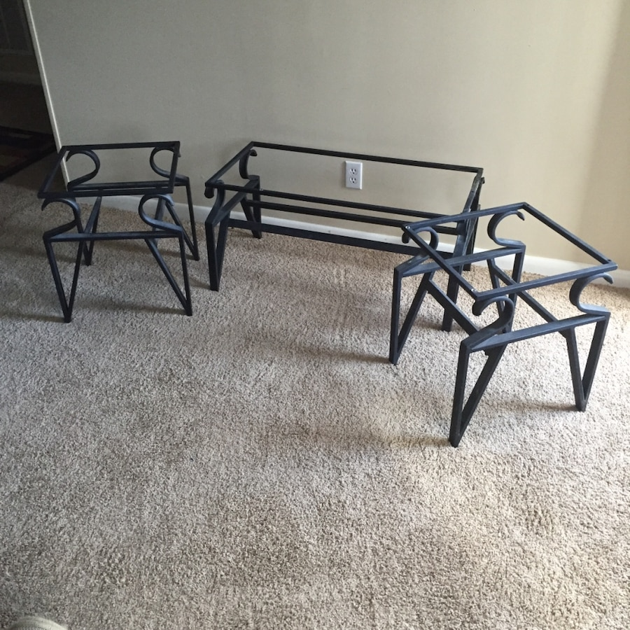 Home and garden 3 piece living room table set missing glass