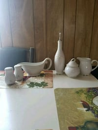white ceramic pitcher and bowl Las Cruces, 88012