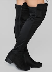 BRAND NEW FASHIONNOVA THIGH HIGH BLACK BOOTS Toronto, M6P 2T3