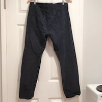 Calvin Klein jeans straight leg CK men's denim pants black size 34x30 Milpitas