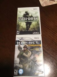 Two for Ten.  Call of duty / Marines Wii game