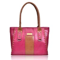 red and black leather tote bag New Delhi, 110059