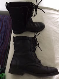 Forever Black Ankle Boots, Size 7 - $15 Mississauga