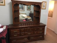 brown wooden dresser with mirror Chantilly, 20152