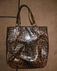 Kate Landry brown and black leopard print tote bag Anderson, 29621