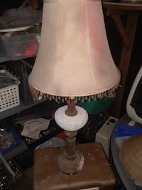 white and brown table lamp Denison, 75020