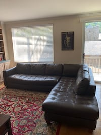 Leather sectional couch in chestnut brown Washington, 20008