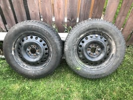 M+S tires and rims 215/65R17