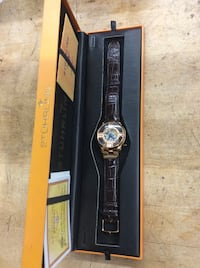 Stuhrling original watch with leather brown band in box with COA pre owned 824142-1 Baltimore, 21205
