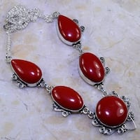 RED CORAL NECKLACE NEW 772 km