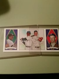 four assorted baseball trading cards New Cumberland, 17070