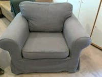 gray fabric sofa chair with ottoman Simi Valley, 93065