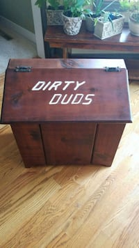"""Dirty Duds"" restored laundry hamper  Middletown, 21769"