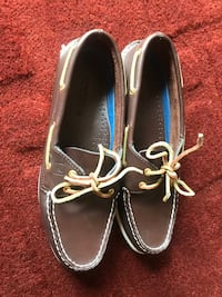 pair of brown boat shoes Cortland, 44410