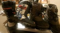 S2 pair size 3 of black-and-brown boots Surrey, V3R 1L9