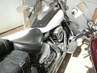 white and black cruiser motorcycle