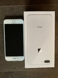 2 iPhone 8 plus silver 64gb unlock $300 for 1 $450 for 2 Toronto