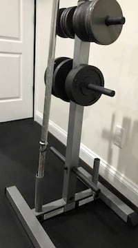 GSWT Body-Solid Standard Plate Tree & Bar Holder Centreville, 20120