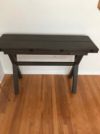 Wooden folding dining table