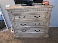 Large Wooden Dresser and Nightstand