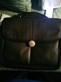black leather 2-way bag 2257 mi