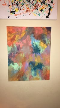 multicolored abstract painting Raleigh, 27606