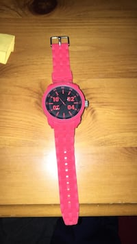 round pink analog watch with pink strap Guelph, N1E 7C5