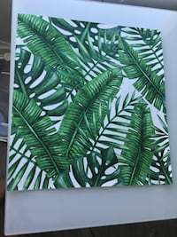 Palm leaf stick wall paper.