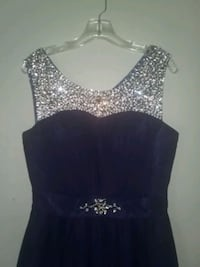 Navy blue formal gown Anderson, 96007