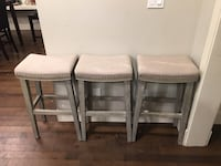 EUC 3 Beautiful Grey Tones Barstools Langley, V2Y 3J3
