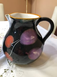 Pitcher and Flower base ceramic MADE IN ITALY Orlando, 32824
