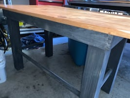 Hand-Crafted Wooden Table/Desk