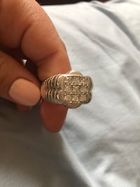 Large sterling silver men's ring with stones new Toronto, M2R 3N1