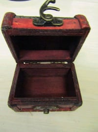 Miniature wooden chest London