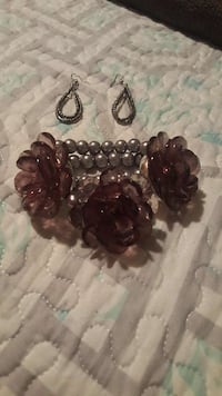 grey and brown beaded floral accessories Anaheim, 92801