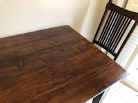 Solid barn wood dining table + 4 chairs + side table