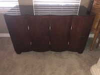 brown wooden 6-drawer chest Colorado Springs, 80924