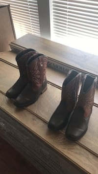Two pairs of brown leather cowboy boots Abingdon, 21009