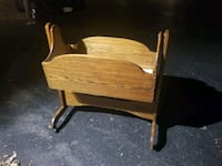Antique solid oak baby cradle Nashville