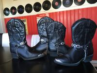 Pair of black leather cowboy boots South Berwick, 03908
