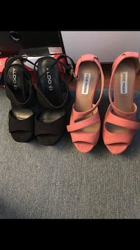 Two pairs of black and pink leather sandals Montgomery Village, 20886