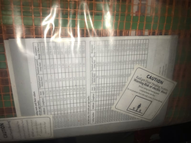 IN-FLOOR HEATING GRIDS -  (Radiant) IN-FLOOR HEATING $75 and up 241a3edb-f455-4e7d-a89b-cdfd2d0eb319
