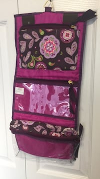 NEW Purple and pink floral hanging organizer beauty products travel shelf Edmonton, T5T