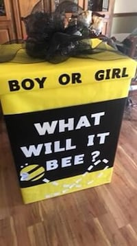 Baby Gender reveal large box