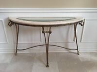 Accent Glass Marble Table Vaughan