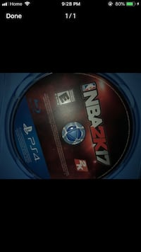 Sony ps4 nba 2k17 disc with case