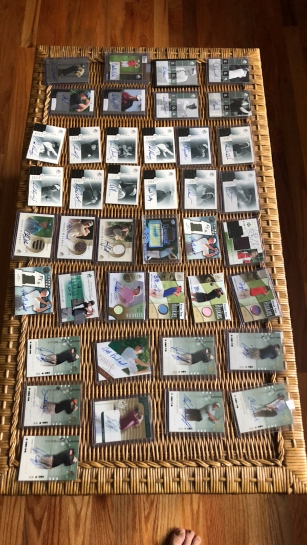 assorted Golf autographed cards c54d8a94-954c-4a9c-8bc0-72dbe398b1b5